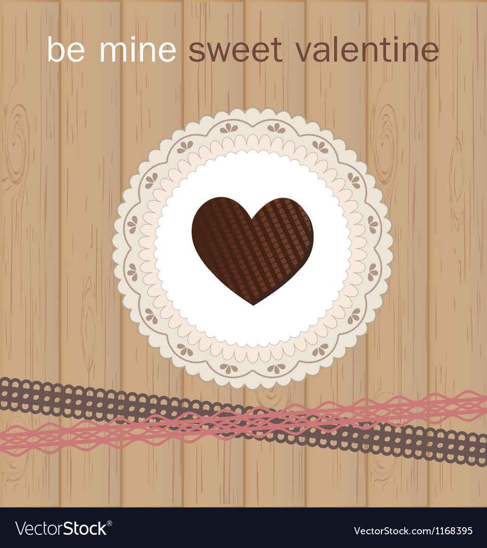 Valentines day card with chocolate vector   Price: 1 Credit (USD $1)