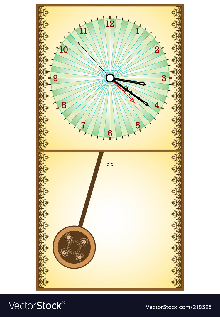 Wooden pendulum clock vector | Price: 1 Credit (USD $1)