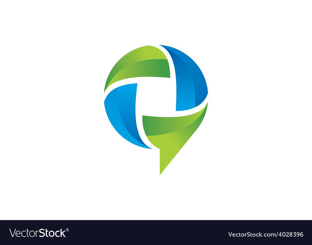 3d talk bubble social media logo vector | Price: 1 Credit (USD $1)
