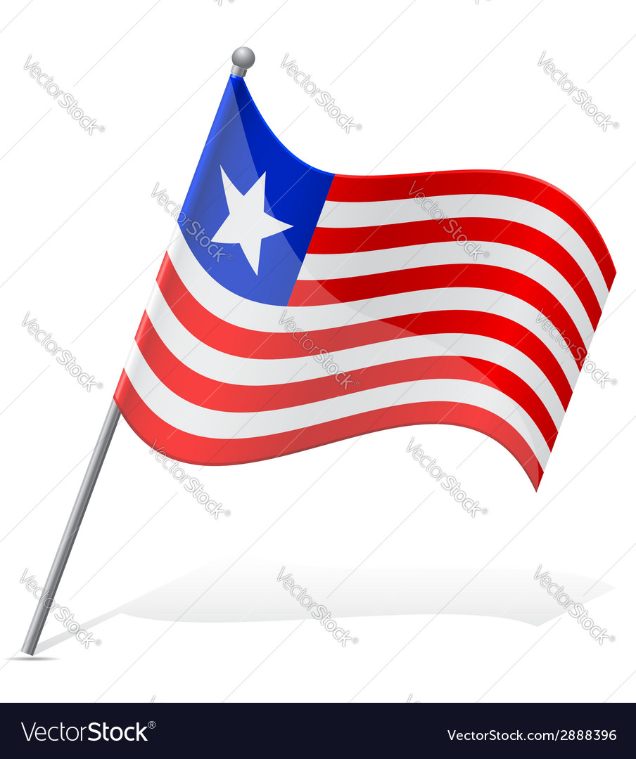 Flag of liberia vector | Price: 1 Credit (USD $1)