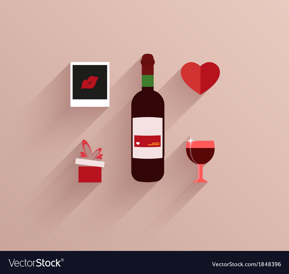 Flat modern love background eps10 vector | Price: 1 Credit (USD $1)