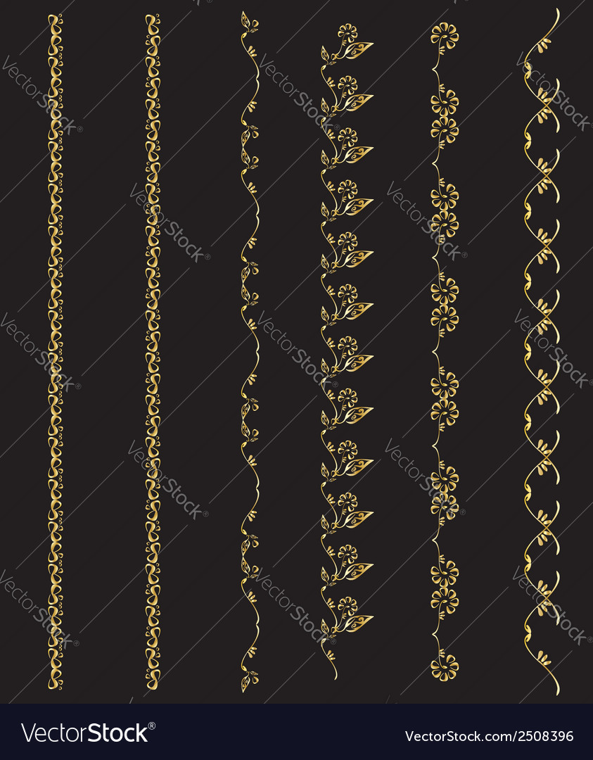 Gold design element chains vector | Price: 1 Credit (USD $1)
