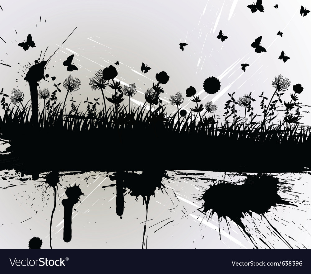 Grunge grass silhouette vector | Price: 1 Credit (USD $1)