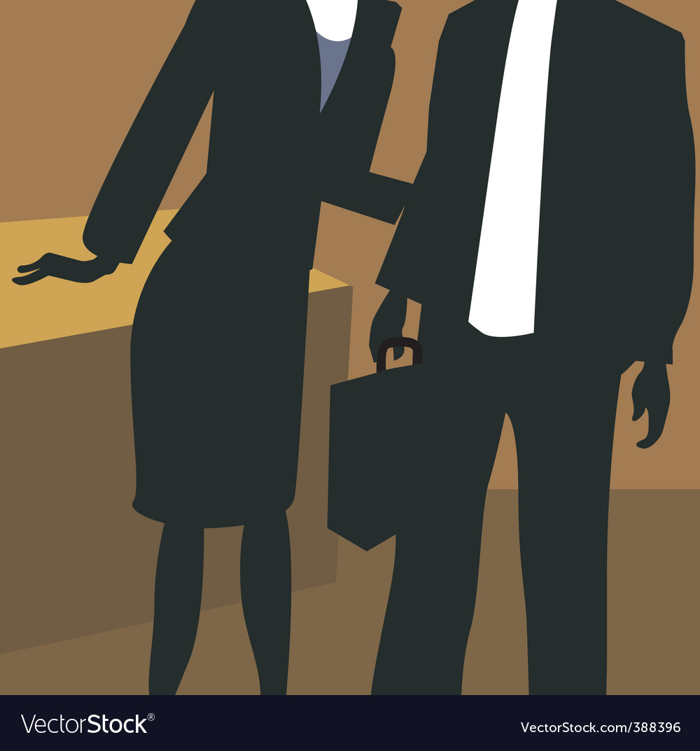 Lady and man in office vector | Price: 1 Credit (USD $1)