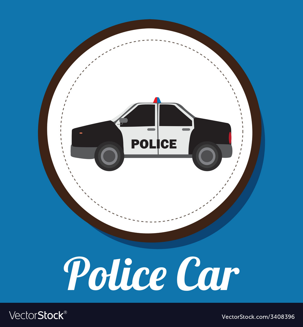Police car design vector | Price: 1 Credit (USD $1)