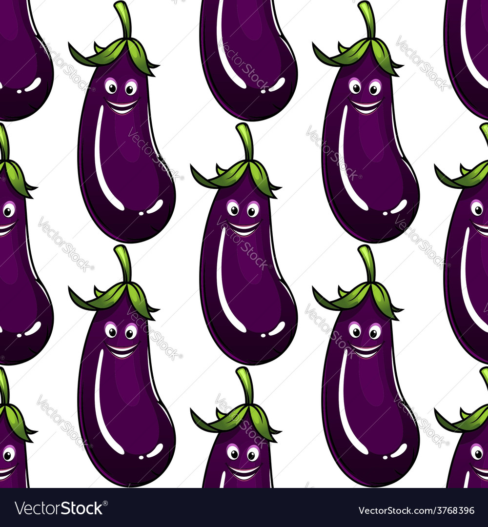 Seamless background pattern of a ripe eggplant vector | Price: 1 Credit (USD $1)