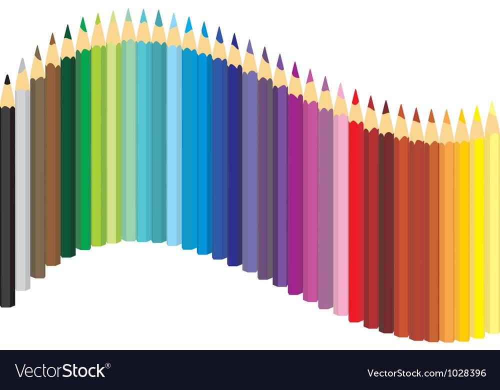 Set of color crayons vector   Price: 1 Credit (USD $1)