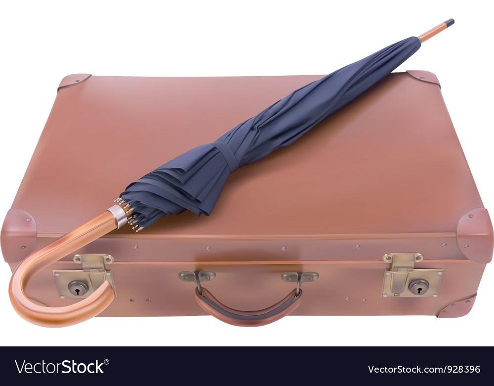 Suitcase and umbrella vector | Price: 3 Credit (USD $3)