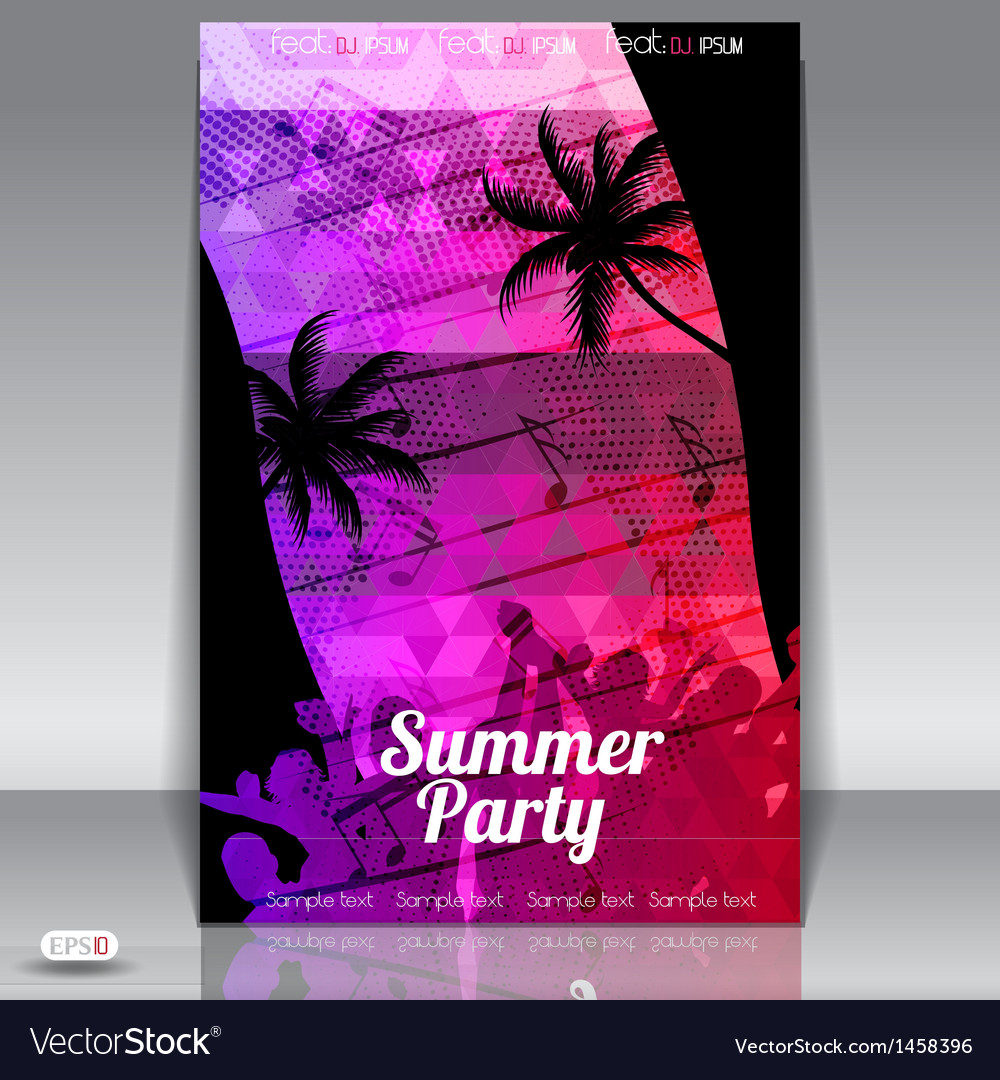 Summer party vector | Price: 1 Credit (USD $1)