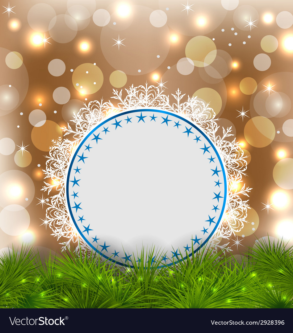 Xmas elegant card on glowing background vector | Price: 1 Credit (USD $1)