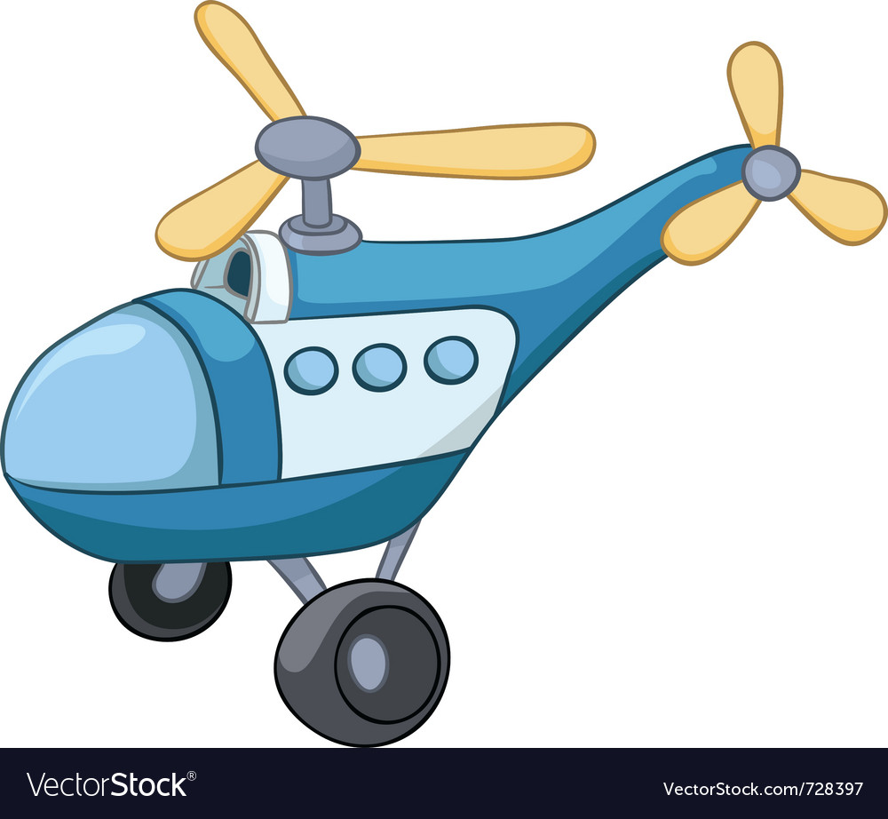 Cartoon helicopter vector | Price: 1 Credit (USD $1)