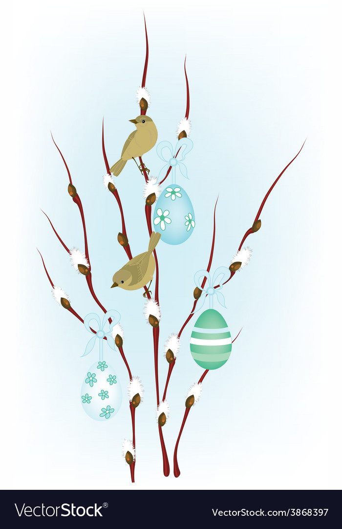 Easter birds vector | Price: 1 Credit (USD $1)