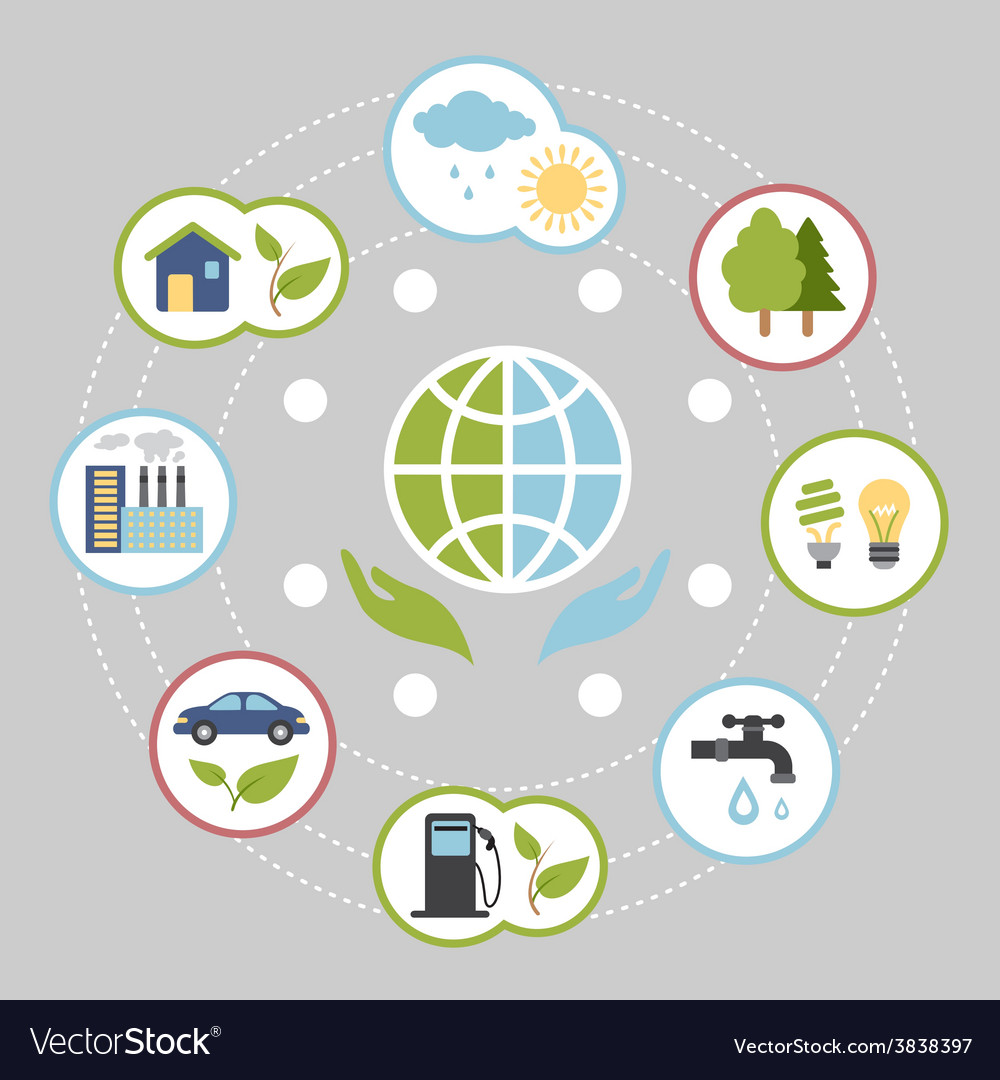 Ecologic infographic elements for web and print vector | Price: 1 Credit (USD $1)