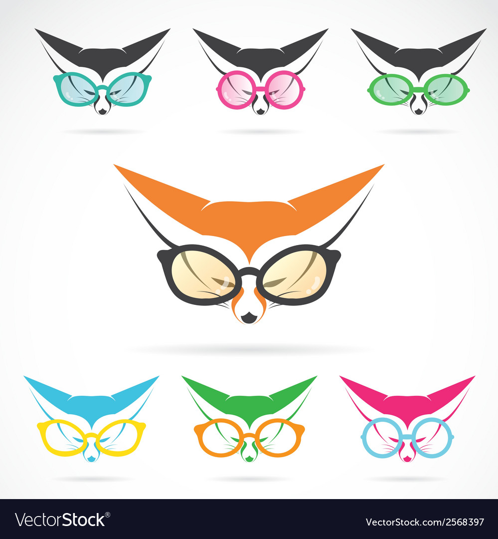 Images of fox wearing glasses vector | Price: 1 Credit (USD $1)