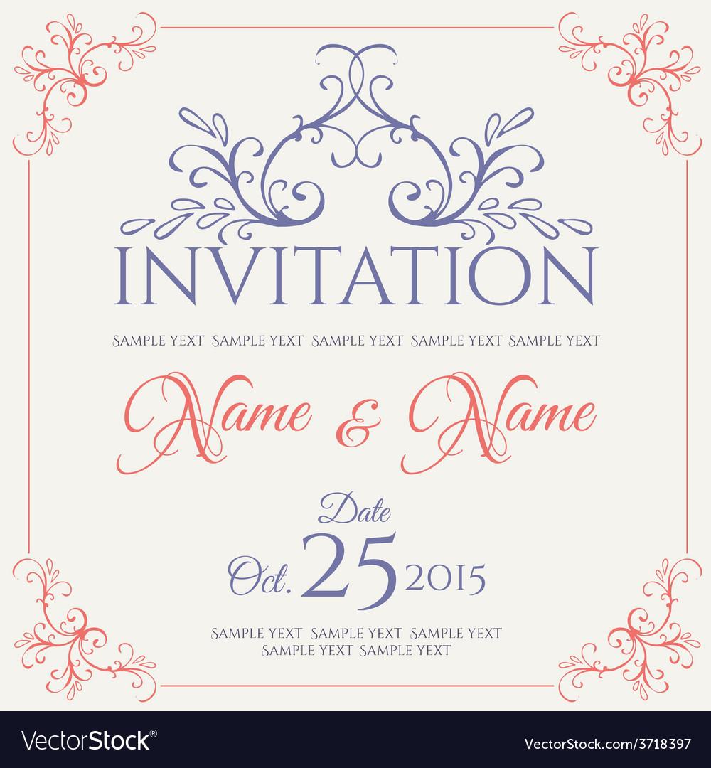 Invitation card design vector | Price: 1 Credit (USD $1)
