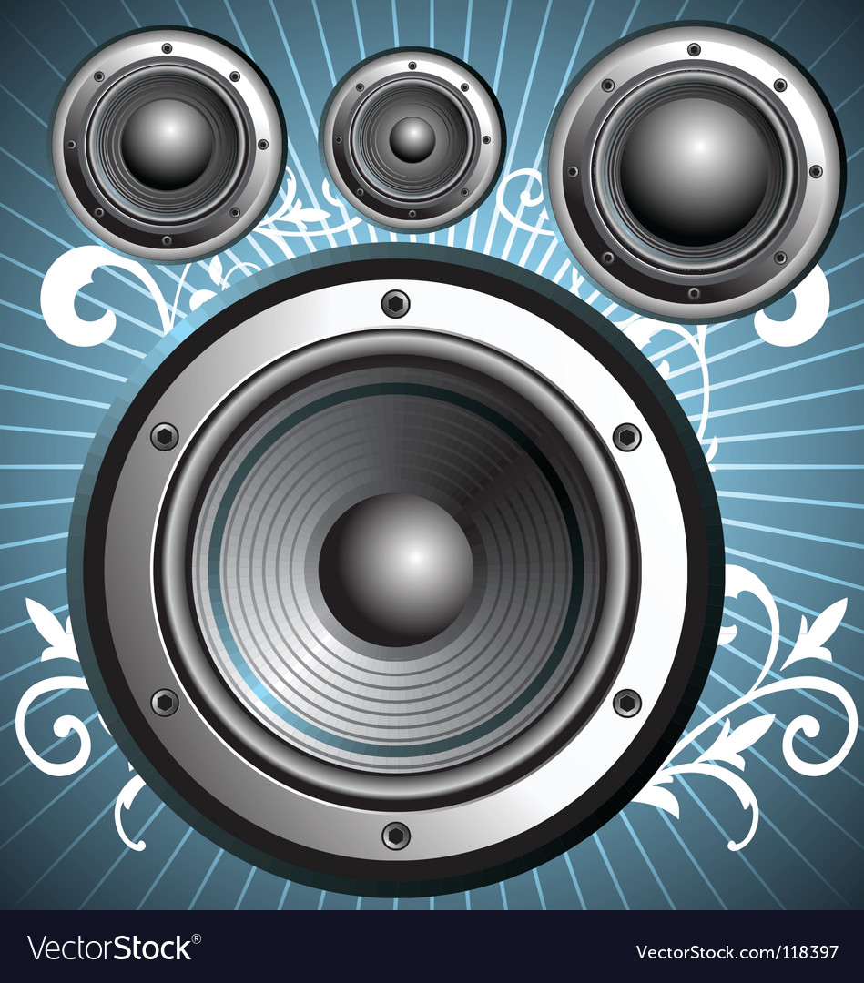 Loudspeakers speakers vector | Price: 1 Credit (USD $1)