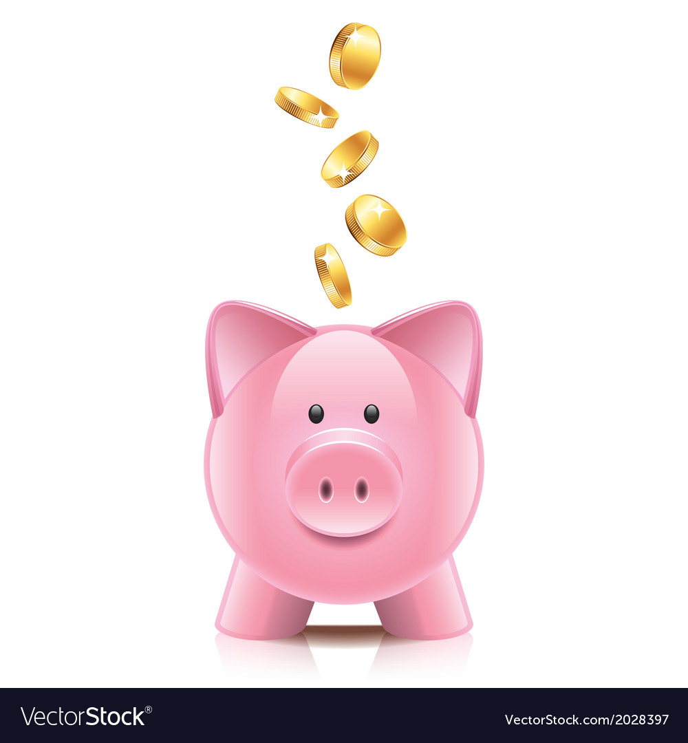 Object piggy bank vector | Price: 1 Credit (USD $1)