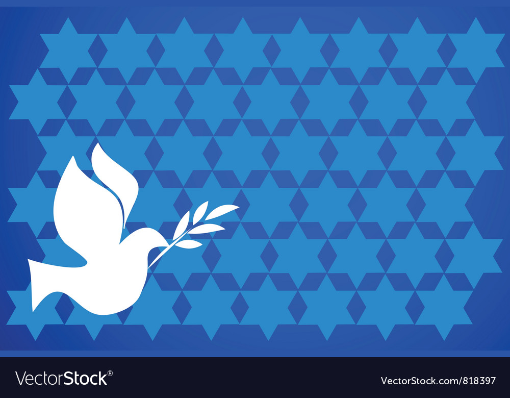 Peace pigeon on blue background vector | Price: 1 Credit (USD $1)