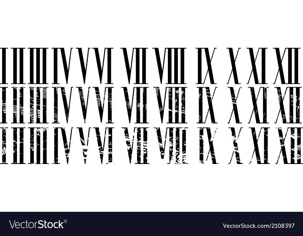 Roman numerals vector | Price: 1 Credit (USD $1)