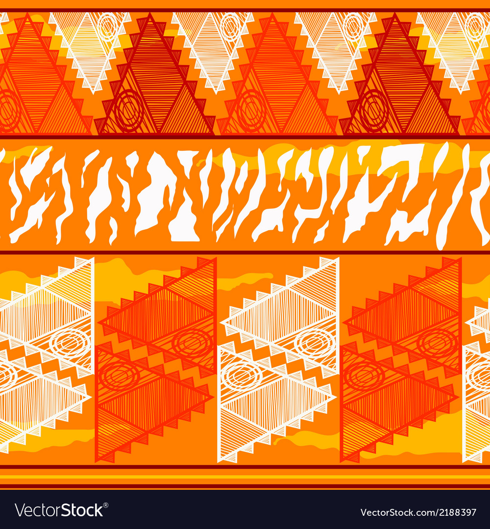 Seamless texture in tribal indian style vector | Price: 1 Credit (USD $1)