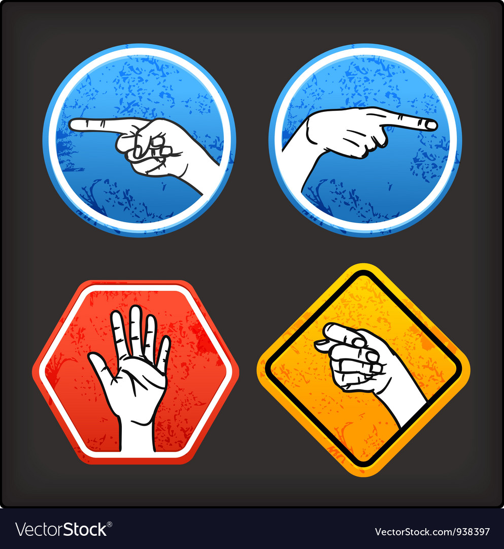 Sign language signs vector | Price: 1 Credit (USD $1)