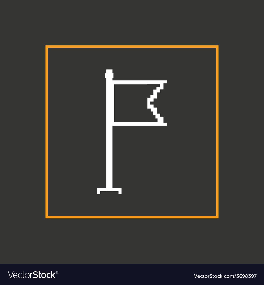 Simple stylish pixel icon flag design vector | Price: 1 Credit (USD $1)