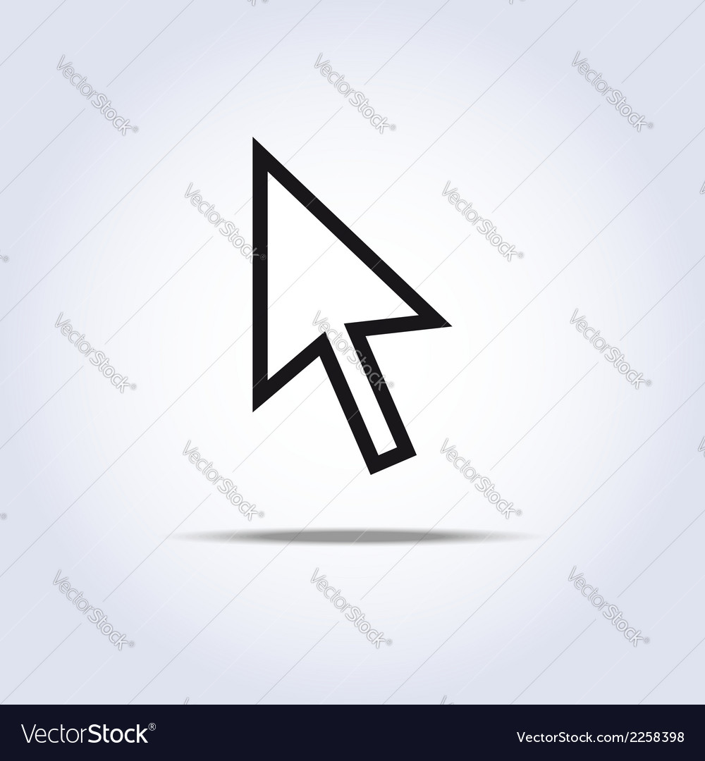 Arrow cursor vector | Price: 1 Credit (USD $1)