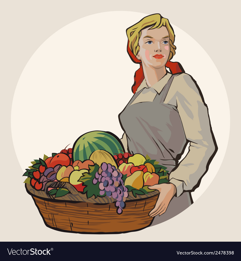 Basketgirl vector | Price: 1 Credit (USD $1)
