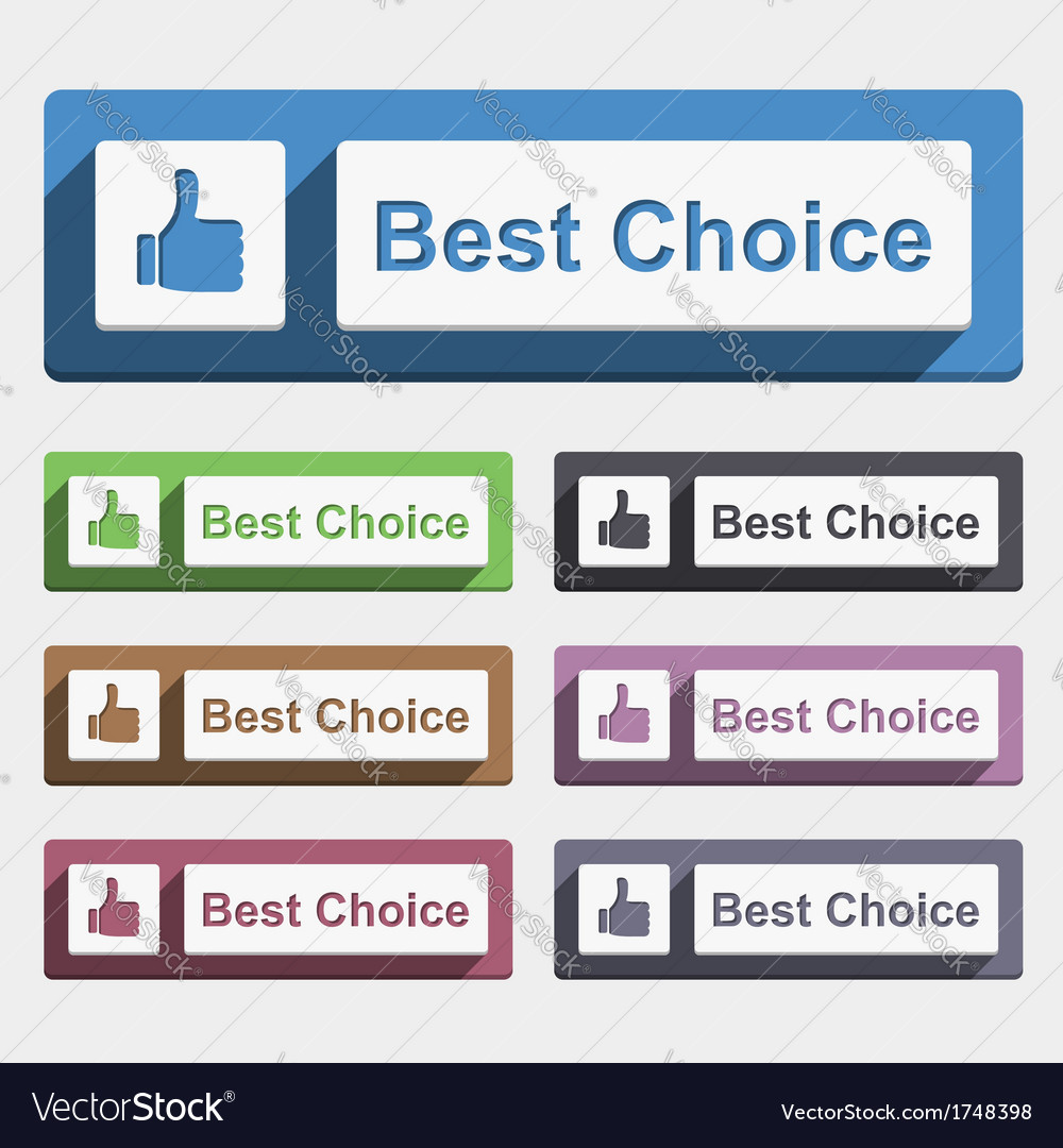 Best choice button vector | Price: 1 Credit (USD $1)