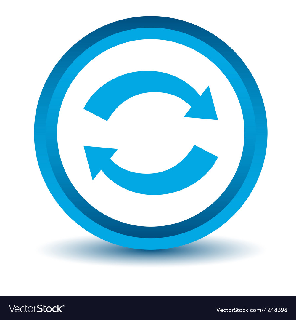 Blue synchronization icon vector | Price: 1 Credit (USD $1)