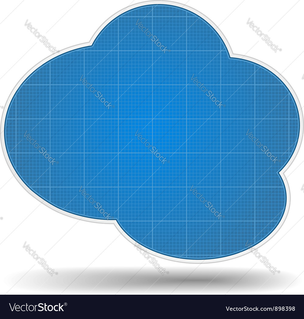 Blueprint cloud vector   Price: 1 Credit (USD $1)