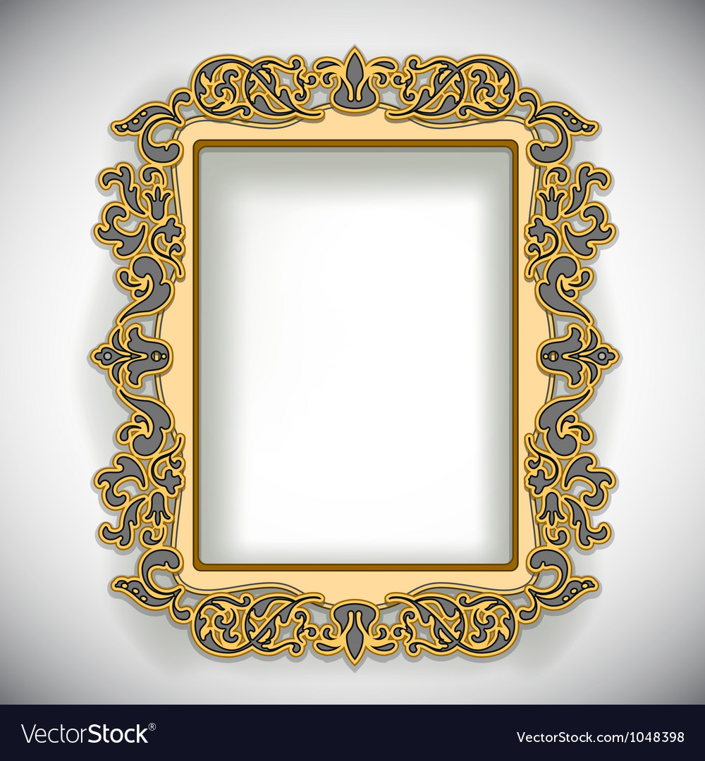 Carved wooden frame vector | Price: 1 Credit (USD $1)