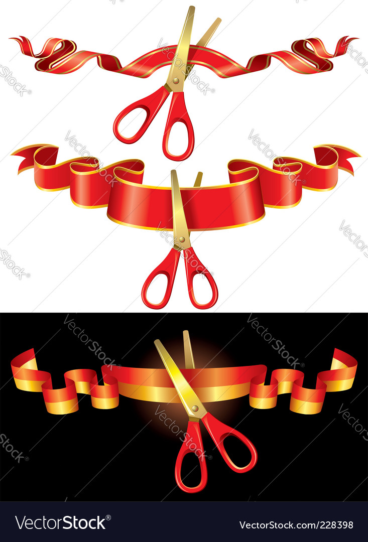 Ceremonial scissors vector | Price: 1 Credit (USD $1)