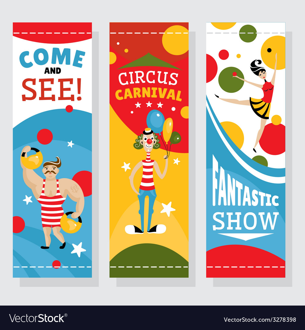 Circus banners vector | Price: 1 Credit (USD $1)