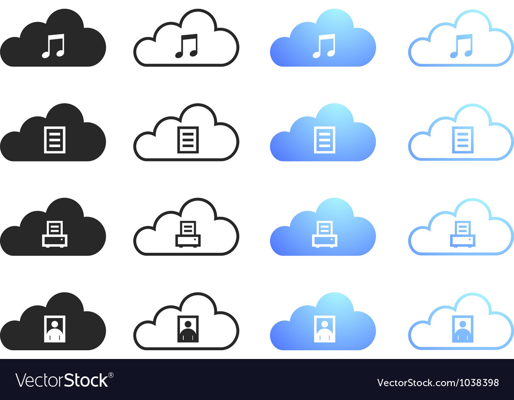 Cloud computing collection - set 2 vector | Price: 1 Credit (USD $1)