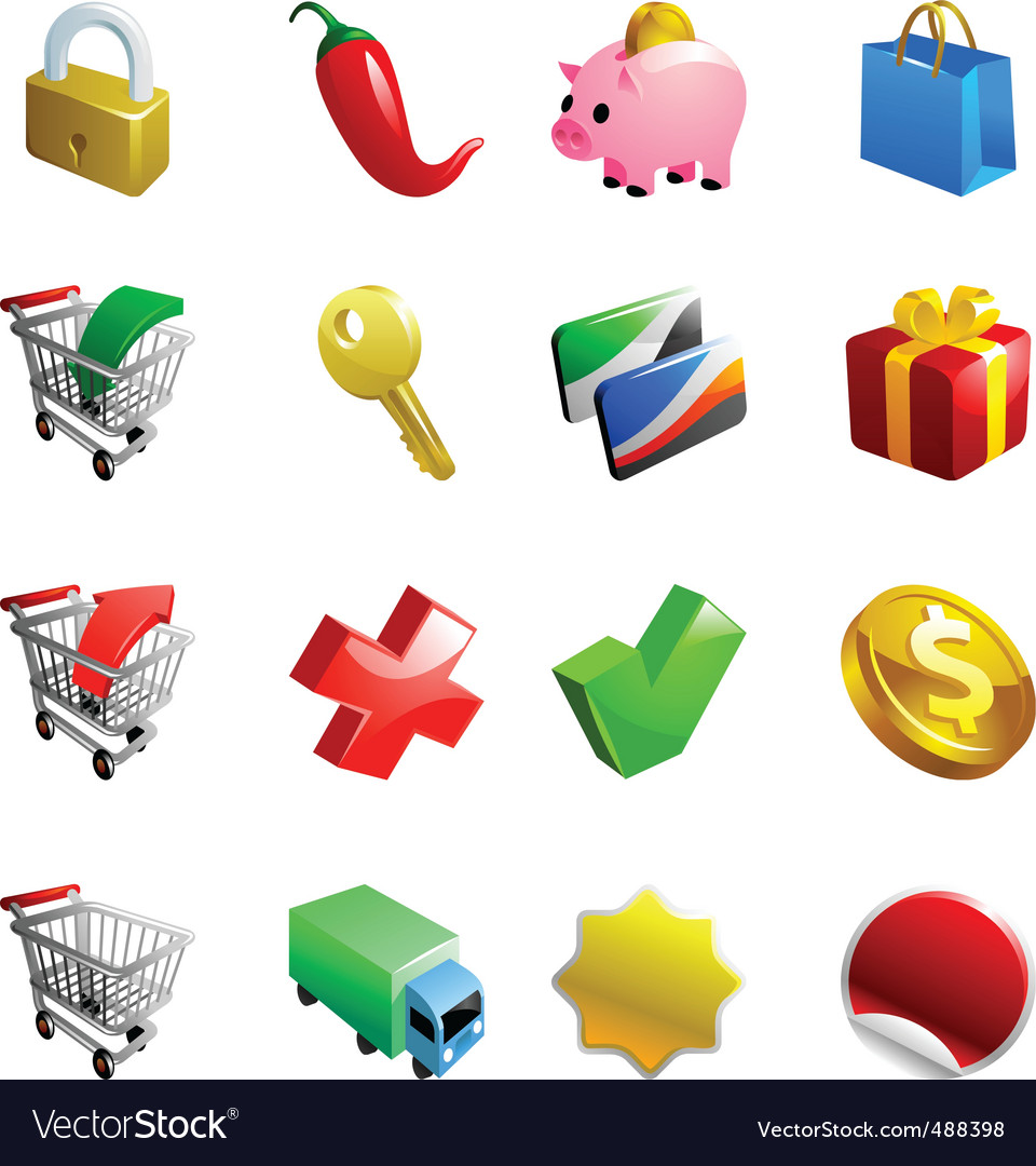 Ecommerce icons vector | Price: 1 Credit (USD $1)