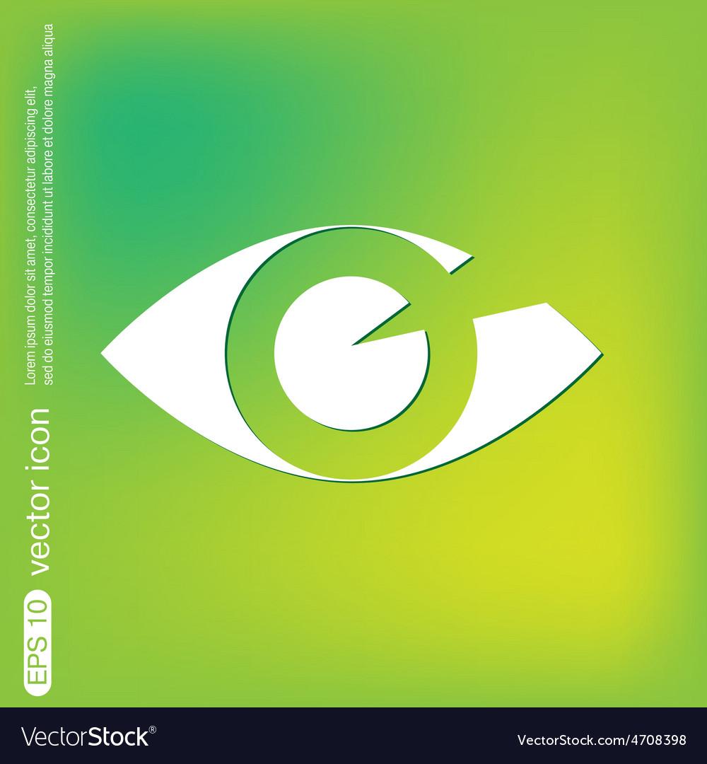 Eye icon vector   Price: 1 Credit (USD $1)