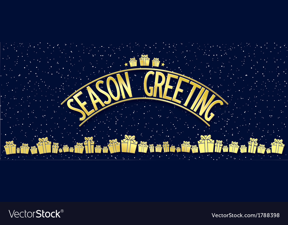 Greeting card with gold lettering design vector | Price: 1 Credit (USD $1)