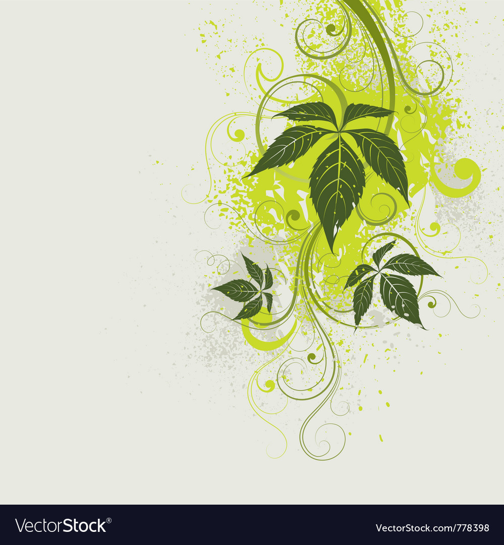 Light green floral background vector | Price: 1 Credit (USD $1)