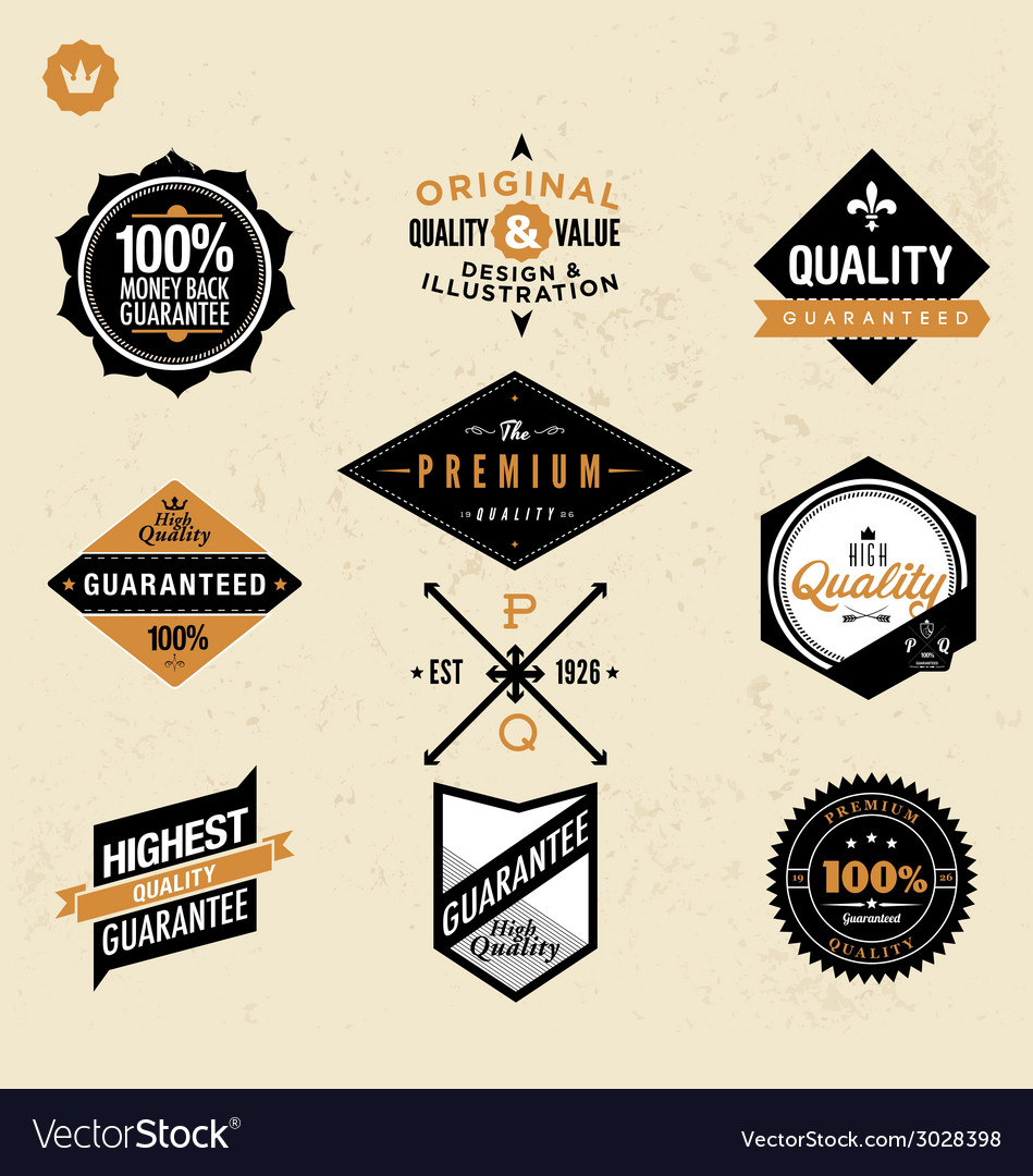Premium and high quality labels vector | Price: 1 Credit (USD $1)