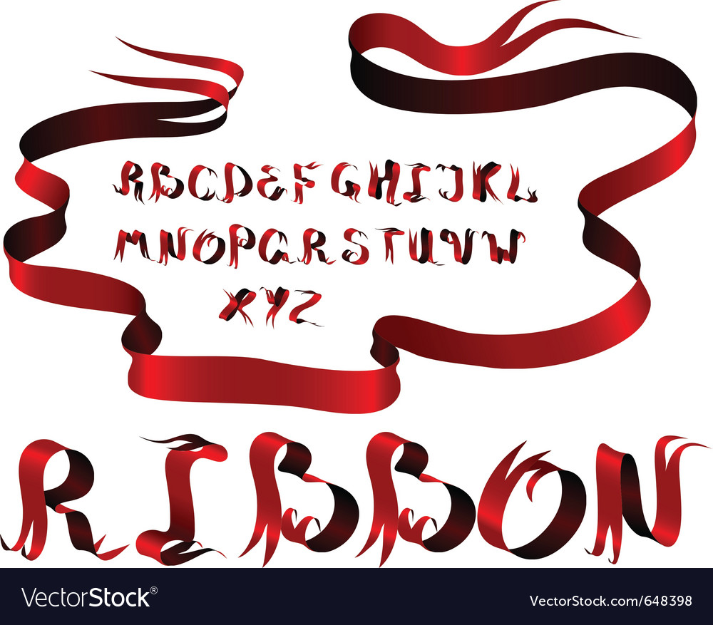 Ribbon alphabet vector | Price: 1 Credit (USD $1)