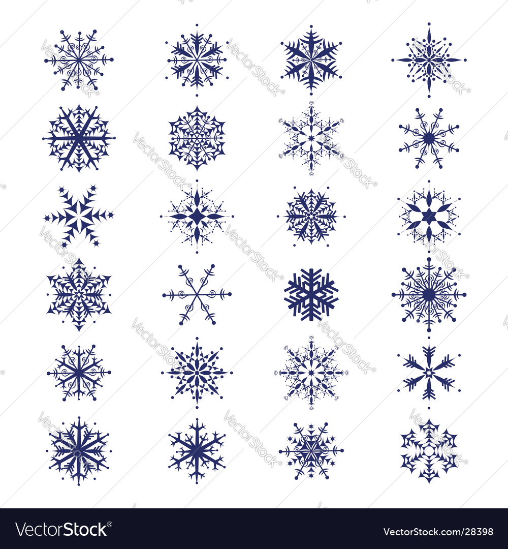 Snowflakes collection vector | Price: 1 Credit (USD $1)
