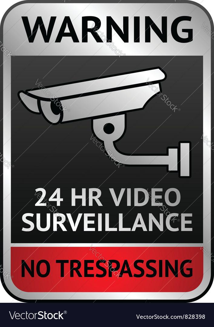 Video surveillance label vector | Price: 1 Credit (USD $1)