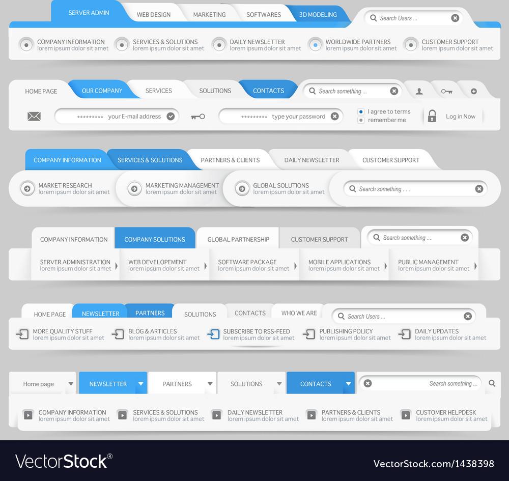 Web site design menu navigation vector   Price: 1 Credit (USD $1)