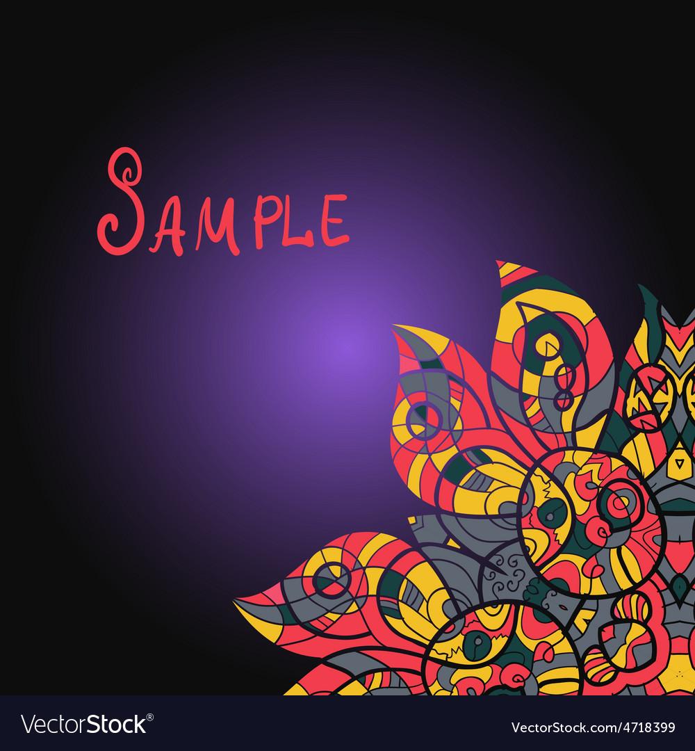 Abstract ornamental shape mandala on vector | Price: 1 Credit (USD $1)