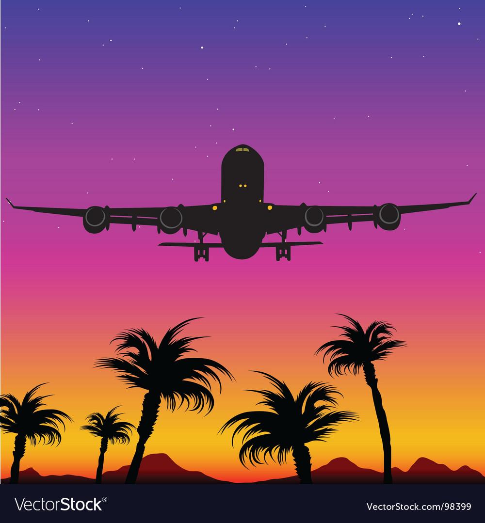 Aeroplane silhouette vector | Price: 1 Credit (USD $1)