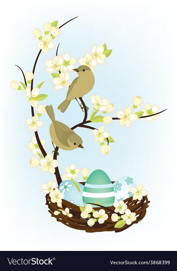 Easter birds vector   Price: 1 Credit (USD $1)