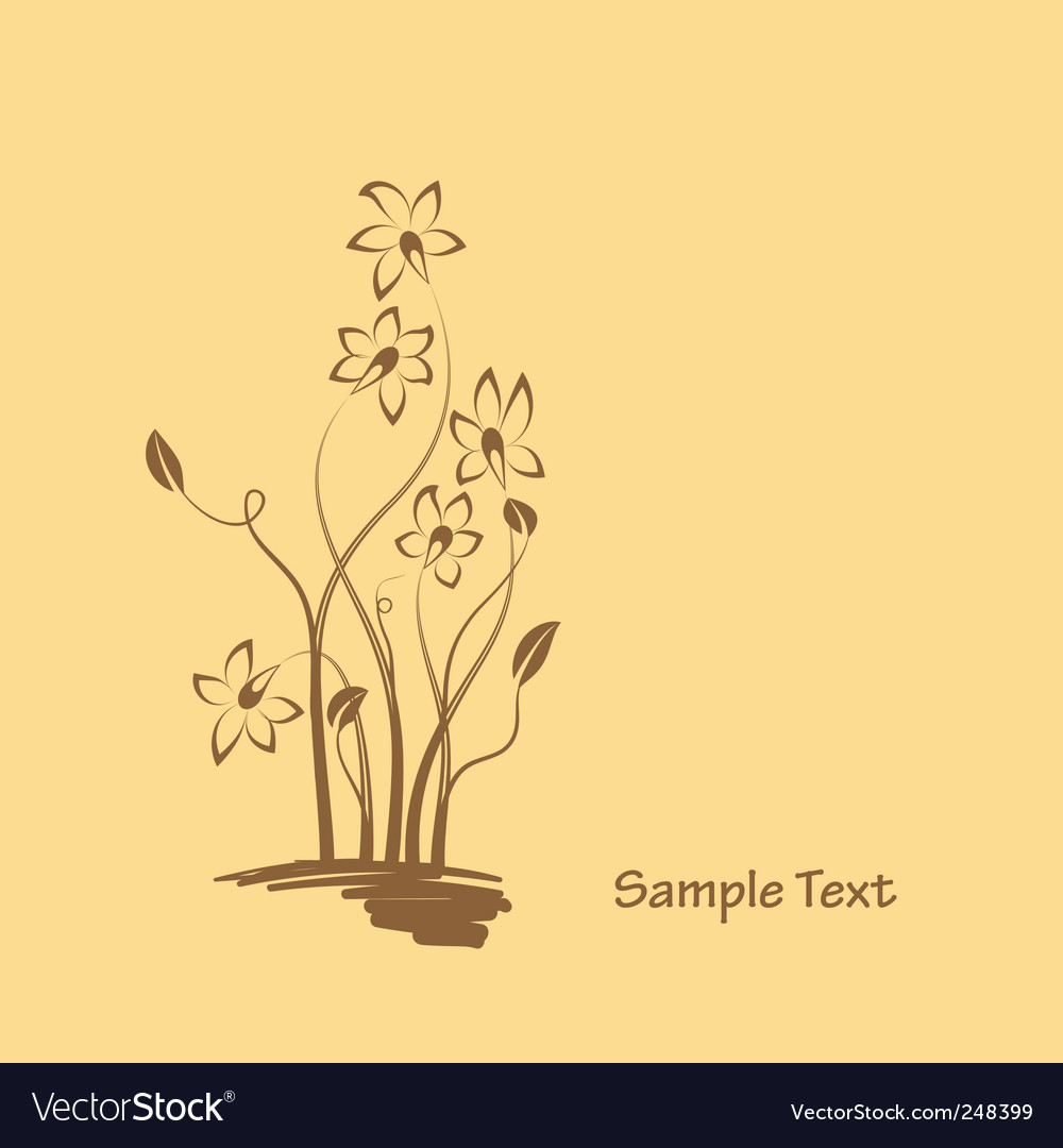 Flowers graphic design vector | Price: 1 Credit (USD $1)
