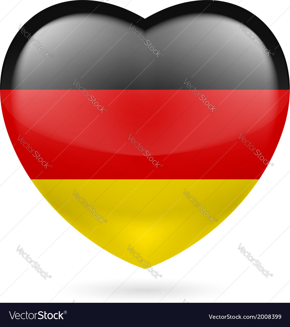 Heart icon of germany vector | Price: 1 Credit (USD $1)