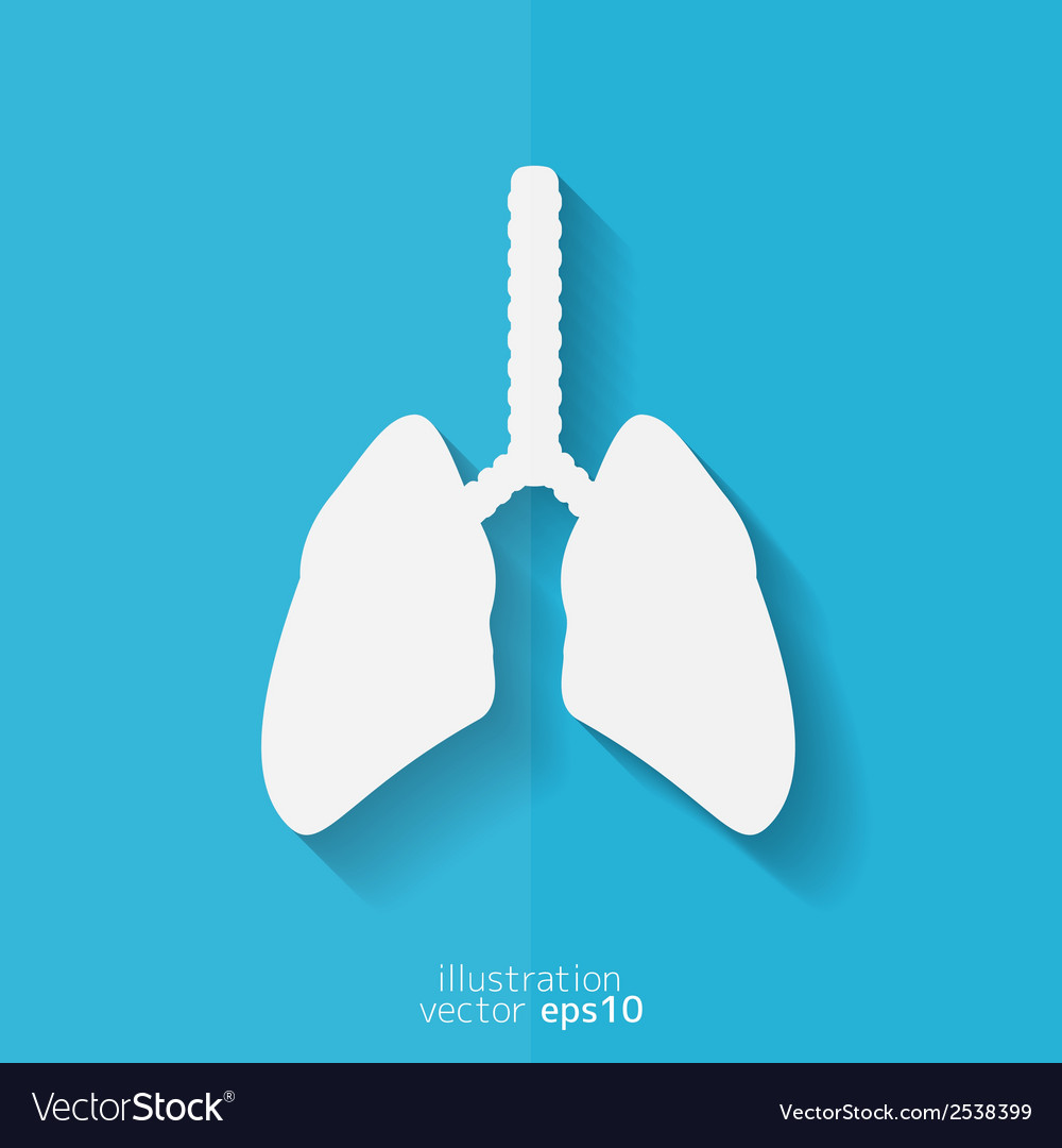 Human lung icon medical background health care vector | Price: 1 Credit (USD $1)